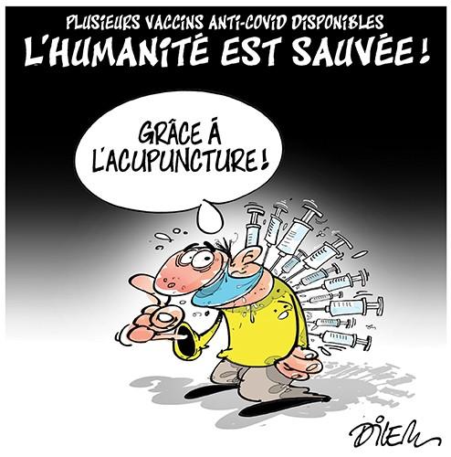 Plusieurs vaccines anti-covid disponibles, l'humanité est sauvée - Dilem - Liberté - Gagdz.com